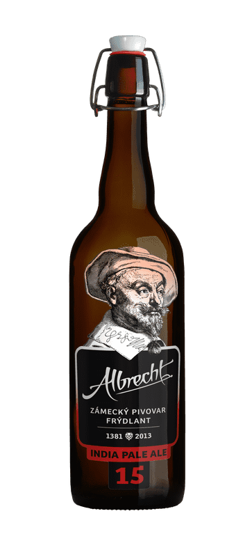 albrecht 15 ipa czech beer bottle