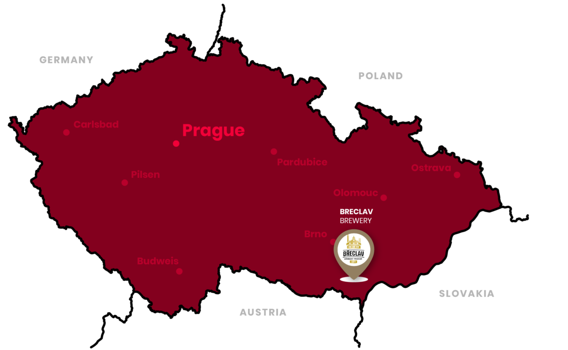 breclav brewery location in the czech republic