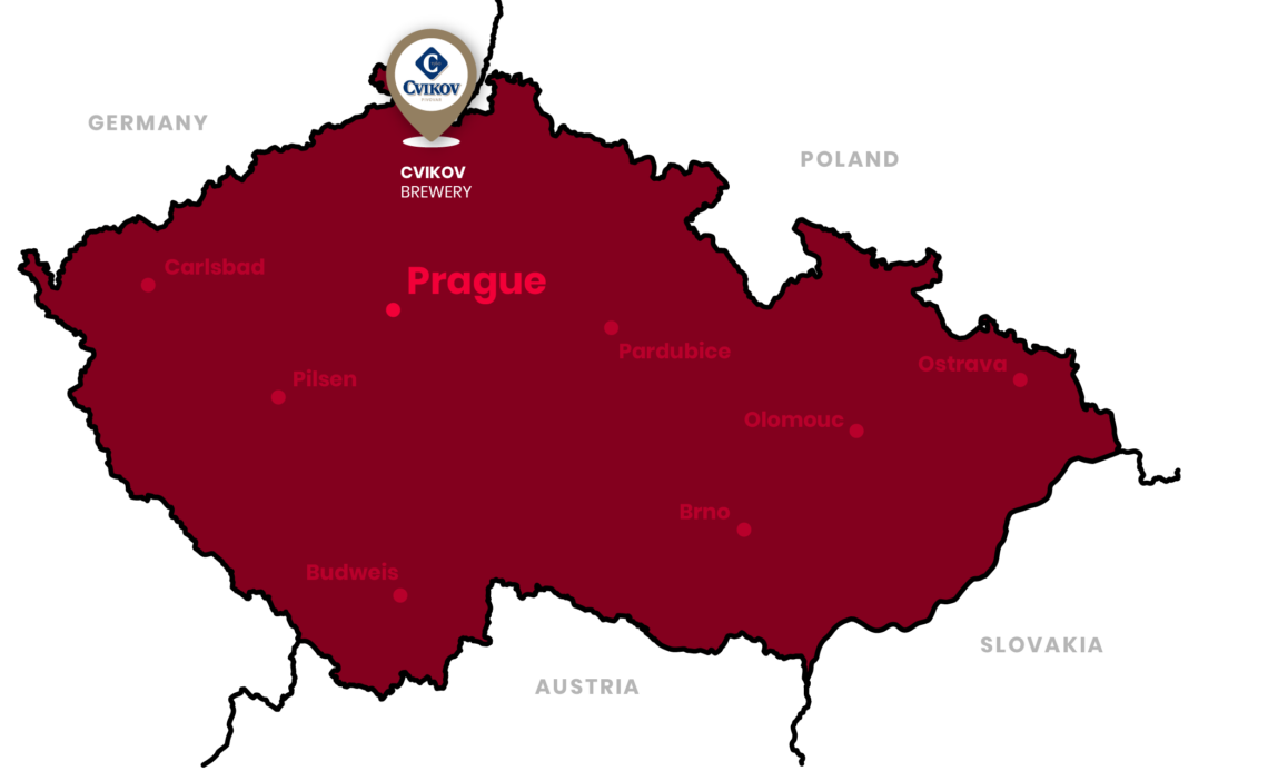 cvikov brewery location in the czech republic