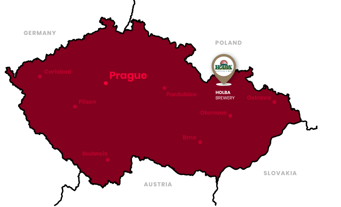 holba brewery location in the czech republic