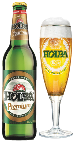 holba serak premium czech beer bottle