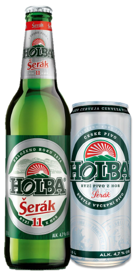 holba serak 11 czech beer bottle